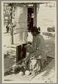 View Woman weaving on vertical loom Copyright 01 MAY 1931 digital asset number 3