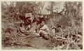 View Group, including women with infants in cradleboard, at camp with drying meat Copyright 21 JAN 1897 digital asset number 0