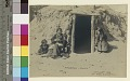 View Woman and children outside hogan Copyright 14 MAR 1906 digital asset number 1