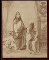 View Portrait of Two Women in Costume, One Veiled and Holding Tam- Bourine 1894 digital asset number 0