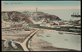 View View of Harbor Town Showing Buildings on Hillside Overlooking Bay with Ships Near Lighthouse, Sea Side of Extinct Volcano n.d digital asset number 0