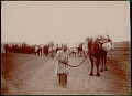 View Man in Costume with Camel Caravan on Road to Gilan Province 1900 digital asset number 0
