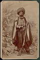 View Portrait of Man in Winter Costume with Rifle 1870 digital asset number 1