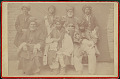 View Seven Men from Mountains Northeast of Nineveh, Mesopotamia, In Costume and with Daggars Outside Brick Building n.d digital asset number 1