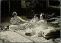 View Three Women in Costume, Drinking Tea on Oriental Rugs in Courtyard of Harem 1959 digital asset number 0