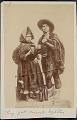 View Quechua Man and Woman in Costume Drinking Liquor from Cups; Bottles Nearby 1899 digital asset number 0