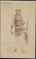 View Aymara Man in Warrior Costume with Spear, Sling and Rock 1899 digital asset number 1