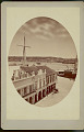 View View of Sailing Ships at Dock in Harbor, Building, Horse-Drawn Carriage, and City in Background n.d digital asset number 1