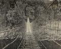 View Vine and Cane Suspension Bridge to Bogu 1954 digital asset number 0