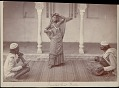View Nautch girl dancing with two men playing string instrument and drum nearby 1862 digital asset number 0