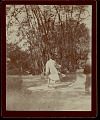 View Two Buddhist Priests in Costume, One Running from Photographer 1896 digital asset number 1