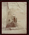 View View of City Street, Stone Steps, and Masonry Shops? or Houses? 1896 digital asset number 0