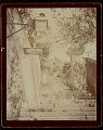View Gateway and Stone Steps; Building and Wall with Gas Lantern 1896 digital asset number 1