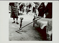 View Carved Wood Pipe with Long Stem and Metal Stand; Group In Costume and with Ornaments Nearby 1965 digital asset number 0