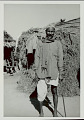 View Man in Costume Outside Pole and Brush Shelter 1965 digital asset number 1