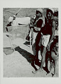 View Three Men and Young Boy in Costume; One Man with Dip Net 1965 digital asset number 1