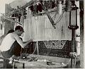 View Two Men in Costume, Weaving Wool Carpet on Vertical Loom (Modern) n.d digital asset number 1
