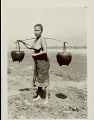 View Young Woman in Costume, Carrying Yoke with Baskets digital asset: Young Woman in Costume, Carrying Yoke with Baskets