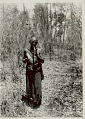 View Old Man in Costume with Metal? Hoe and Knife in Woven Bamboo Sheath and Smoking Pipe 1931 digital asset number 1
