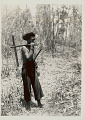 View Man in Costume and Carrying Wood Axe with Metal? Head 1931 digital asset number 0