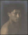 """View Portrait of """"Chinese-Hawaiian"""" boy, titled """"'The Fisher Boy"""" (front view) 1909 digital asset number 0"""