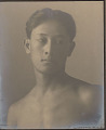 """View Portrait of Hawaiian boy titled """"The Athlete"""" (front view) 1909 digital asset number 0"""