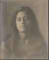 """View Portrait of Hawaiian girl titled """"The Fisherman's Daughter"""" 1909 digital asset number 0"""