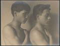"View Portrait of ""Japanese-Hawaiian"" and ""Portugese-Hawaiian"" boys 1909 digital asset number 1"