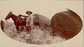 View Man and Horse Near Inscribed Rocks, Possibly Pictographs DEC 1886 digital asset number 0