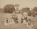 View Group in Costume Near Century Plant DEC 1886 digital asset number 0