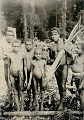 View Two Men and Three Boys with Ornaments, One with Bow and Arrows; All in Jungle Clearing n.d digital asset number 1