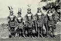 View Five Men in Ceremonial War Costume and with Ornaments 1943 digital asset number 1