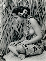 View Portrait of Taupo (Village Virgin) with Knee Tattoo, in Costume and with Ornaments 1925 digital asset number 0