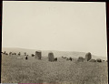 View View of Monoliths in Field with Mountains in Distance 01 NOV 1924 digital asset number 1