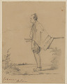 """View """"Japanese Soldier"""" 1853 Drawing digital asset number 0"""