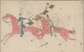 View Anonymous Cheyenne drawing of Indian man counting coup on and striking down U.S. soldier with lance digital asset: Anonymous Cheyenne drawing of Indian man counting coup on and striking down U.S. soldier with lance