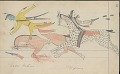 View Anonymous Cheyenne drawing of Cheyenne Indian on horseback being shot at by Crows, with one man wounded digital asset: Anonymous Cheyenne drawing of Cheyenne Indian on horseback being shot at by Crows, with one man wounded