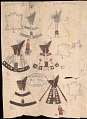View Stephen Stubbs drawings of Kansa warfare and tipi camp, ca. 1882 digital asset number 1