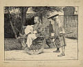 View Passenger Riding Chinese Barrow 1887 Drawing digital asset number 0