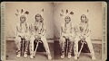 """View """"Brule chiefs (Sioux) in council costume were in Custer's Massacre"""" digital asset number 0"""