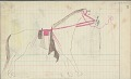 View Anonymous Cheyenne drawing of courting scene, with tipi and tethered horse shown digital asset: Anonymous Cheyenne drawing of courting scene, with tipi and tethered horse shown