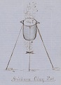 View Anonymous Assiniboine drawings of Arikara ear ornament and cooking vessels from several tribes digital asset: Anonymous Assiniboine drawings of Arikara ear ornament and cooking vessels from several tribes