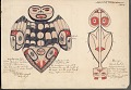 View MS 3987 Copies by James G. Swan of drawings by Haida Indians of mythological animals, some dated 1873 digital asset number 3