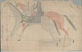 View Anonymous Lakota drawing of two women riding together on one horse, and another (male?) figure on second horse digital asset: Anonymous Lakota drawing of two women riding together on one horse, and another (male?) figure on second horse