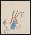 View George Bushotter drawings to accompany his work on Lakota Tetons, 1887 digital asset number 0