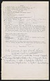 View Notes on Siouan clans, lists of Kansa and Osage clans 1880 ? digital asset number 1