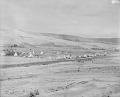 View View of Native Camp Made of Tipis, Creek and Railroad Tracks Nearby 1892 digital asset number 1