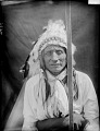 View Portrait (Front) of Pine Bird with Headdress AUG 1907 digital asset number 1