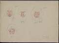 View Two Japanese woodblock prints digital asset: Cocopa face and land markings