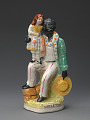 View Staffordshire figurine of Uncle Tom and Little Eva digital asset number 1